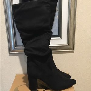 NEW! Charlotte Russe black suede boots! Size 8